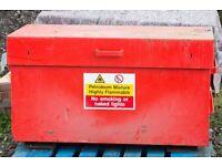 Steel secure van vault style storage container
