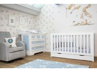 Blue Almonds convertible cot bed