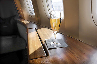 Sip on some champers while in economy