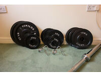 115kg Body Power Olympic Barbell & Weights Set - Mint Condition - 6 Months Old