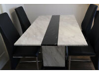 Stunning Top Quality Marble Dining Table and 4 Chairs - absolute bargain