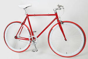 52 cm Fixed Gear Fixie Bike 700C Pure State Track Road Red Chromoly