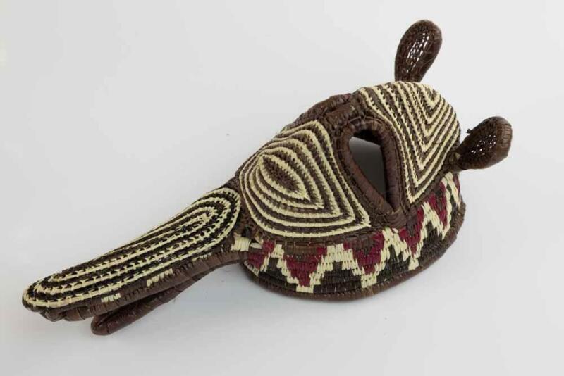 Wounaan Embera Hand Woven Chunga Big Beak Critter Mask Panama