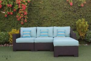 Patio Furniture SALE! FREE Shipping in Montreal! Provence Outdoor Sectional Sofa with Ottoman by Cieux!