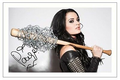 PAIGE WWE WRESTLING DIVA SIGNED PHOTO PRINT AUTOGRAPH