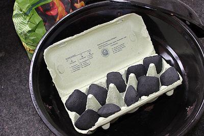 Dieser Eierkarton heizt der Kohle so richtig ein. (© Sarah Sommer)