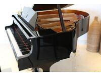 SELF PLAYING NEW STEINHOVEN SG148 BLACK HIGH GLOSS BABY GRAND PIANO