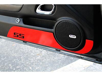 2010-2014 Chevrolet Camaro Billet Door Kick Plates SS Logo Orange