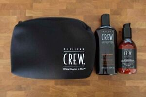 AMERICAN CREW Shampoo, Aftershave Face Balm & Wash Bag – BRAND NEW