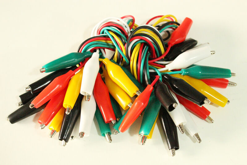 "20PCS 19"" Test Leads Set Jumper Wire With Alligator Clips *US FREE SHIPPING*"