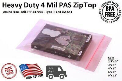 Pink Antistatic 4mil Zip Top Bags Anti Static Reclosable Lock 2.5x34568912