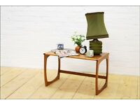 teak G Plan coffee table vintage mid century quadrille legs danish design side table