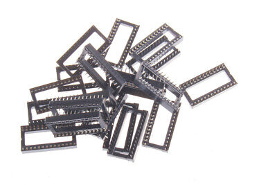 20PCS 28pin DIP IC Socket Adaptor Solder Type Socket Pitch Dual Wipe Contact