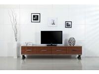 Tv Stand Cupboard Office Wardrobe or Storage Dark-Oak In Wembley 81 Inch Length