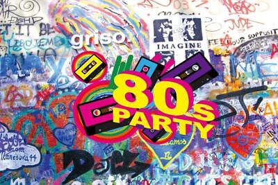 Cosplay Photography 80S Party Backdrops Photo Props Music Vinyl Background - 80s Photo Backdrop