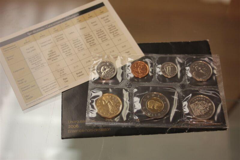 ROYAL CANADIAN MINT 2006 UNCIRCULATED CANADA 7 COIN SET BU A1