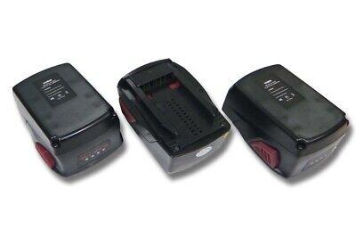 3x BATERIA 3000mAh negro para Hilti TE 2-A22, TE 4-A22, WSR 22-A