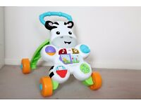 Fisher Price Zebra Learn with me Baby Walker