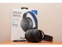 SONY - MDR-ZX770BNL Wireless Bluetooth Noise-Cancelling Headphones - Blue