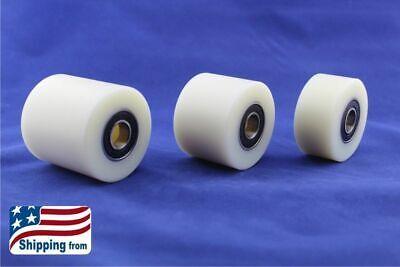 2 Inch Nylon Pulley Roller Wheel Bearing Guiding Wheel Flat Belt Idler
