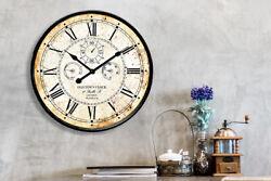 Vintage Rusty looked Metal Wall Clock 24'' Diameter Room Home Art Decorations