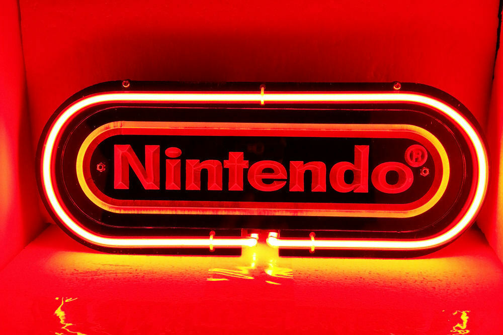 "Nintendo 3d Carved Neon Sign Beer Bar Gift 14""x7"" Light Lamp"