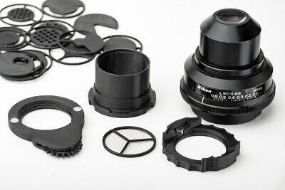 Nikon Lwd 0.65 Microscope Condenser Darkfield Polarizing Oblique Insert Set