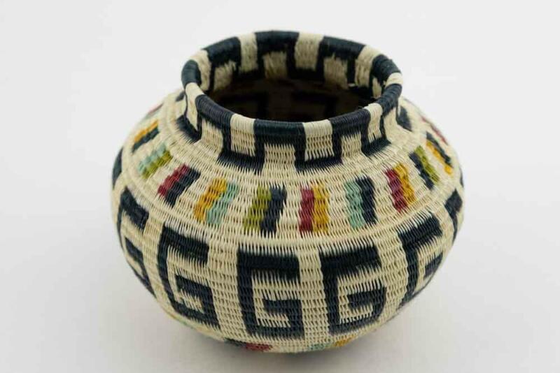 Wounaan Indian Hand Woven Classic Design Panama Basket