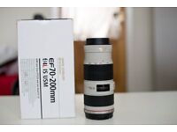 canon lens 70-200 f4 is usm in good condition, without a box, no hood
