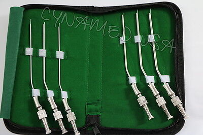 New German Frazier Suction Tube Set Of 6 Tubes Dental Ent Surgical Instruments