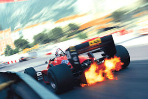 Formula One Ferrari Monte Carlo F1 Poster - Race Car Print Poster