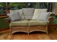 Cane sofa & chair, suitable for conservatory