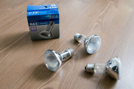 3 x R63 spotlight screw cap bulbs ( 60 W )