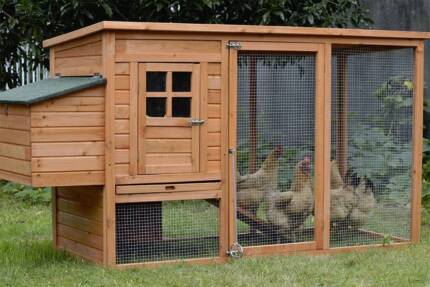 LARGE Chicken Coop Rabbit Hutch Hen Chook House CH260