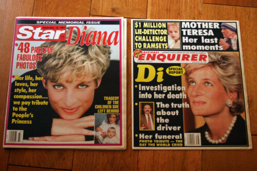 STAR MAGAZINE + NATIONAL ENQUIRER Tabloids PRINCESS DIANA September 1997 16 & 23
