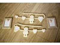 Mamas and Papas Millie and Boris photo frame & curtain tie backs
