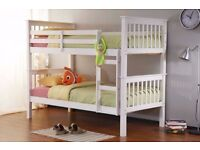 ** 7 DAY MONEY BACK GUARANTEE ** / SHERWOOD BUNK BED FRAME WITH MATTRESSES / SAME DAY DELIVERY