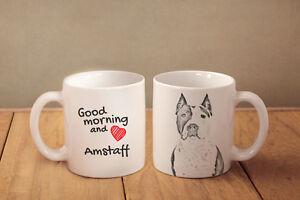 Amstaff cropped - Keramik Becher Subli Dog DE - <span itemprop='availableAtOrFrom'>Zary, Polska</span> - Zwroty są przyjmowane - Zary, Polska