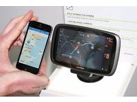 55% off - TomTom Go 5100 GPS Sat Nav - AVOIDS TRAFFIC, boxed, world maps, built-in SIM card