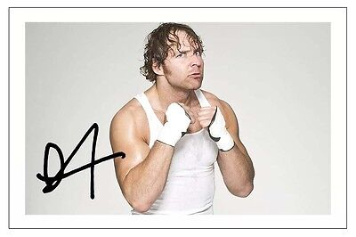 DEAN AMBROSE THE LUNATIC FRINGE WWE WRESTLING SIGNED PHOTO PRINT AUTOGRAPH