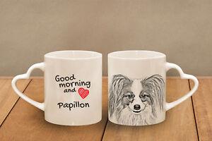 Papillon - ein Becher &quot;Good Morning and love, heart&quot; Subli Dog, CH - <span itemprop='availableAtOrFrom'>Zary, Polska</span> - Zwroty są przyjmowane - Zary, Polska