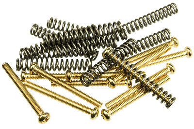 12 Pack Spring - 12 Pack of Humbucker Pickup Mounting Screws With Springs Gold Finish