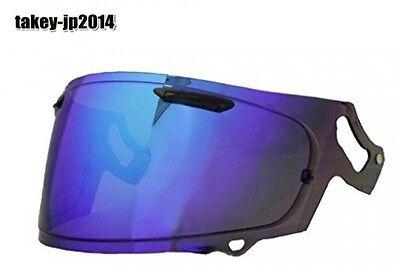 Arai Helmet Extra Mirror Shield Vas-V Mv Shield Smoke Blue for Rx-7X, Motorcycle