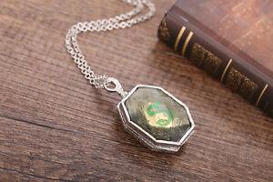 Harry Potter Slytherin Locket Horcrux  pendant necklace Jewelry fancy dress