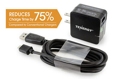 Tenergy Turbo Usb Universal Ac Wall Charger W  Qualcomm  Quick Charge  2 0