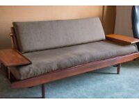 Toothill Danish Teak Day Bed Sofa 1960s Mid-century Vintage Retro G Plan Hvidt Juhl era