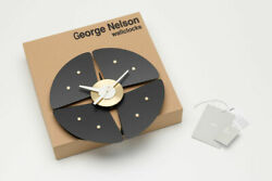 Petal Clock  George Nelson by Vitra Authentic Item Authorized Dealer Black/brass