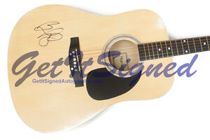 Brad Paisley Autographed Acoustic Guitar with COA - Hand Signed authentic