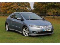 2007 HONDA CIVIC 1.8 TYPE-S I-VTEC 3DR LOW MILES! NEW MOT CLEAN CAR 45MPG ACCORD