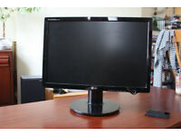 "LG L207WT 20.1"" Widescreen LCD Monitor - Black - VGA & DVI - Cable Management Compartment"